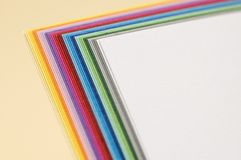 Papiers de Colourfull Photographie stock libre de droits
