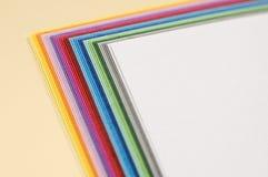 Papiers de Colourfull Photographie stock libre de droits
