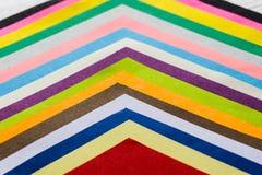 Papiers de couleur Images libres de droits