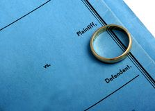 Papiers de divorce Photo libre de droits