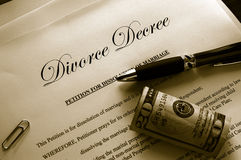 Papiers de divorce photos stock