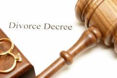 Papiers de divorce Images libres de droits