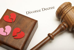 Papiers de divorce Photos stock