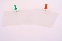 Papiers de note Images stock