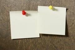 Papiers de note Images libres de droits
