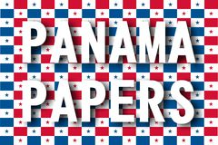Papiers du Panama Photo stock