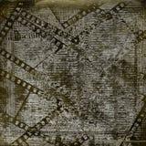 Papiers et extrait de film grunge sur le fond aliéné Images libres de droits