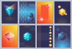 papiers peints 3D avec des figures illustration de vecteur Images libres de droits