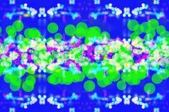 Papiers peints et milieux vert-bleu de texture de bokeh de tache floue Image libre de droits