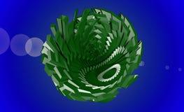 Papiers peints minimalistes abstraits verts avec le fond bleu Image libre de droits