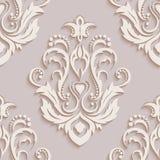 Papiers peints sans couture dans le style du baroque canette illustration stock