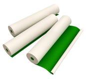Papiers peints verts pour le revêtement de murs de maison d'isolement Images libres de droits