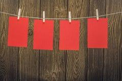 Papiers rouges Photo libre de droits