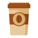 Papierschalen-Kaffee Portable Stockbild