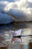 Papierschiff Frieden Stockbild