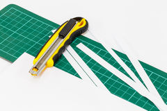 Papierschneidemaschine des Messers Lizenzfreie Stockbilder