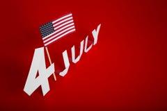 Papierschnitt des amerikanischen Unabhängigkeitstags am 4. Juli Stockfotos