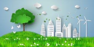 Papierschnitt von eco Lizenzfreies Stockfoto
