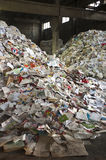 Papierschrottyard Lizenzfreies Stockfoto