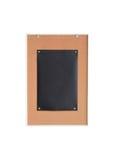 Papierschwarzes auf hölzernem Brett Signage Lizenzfreie Stockbilder