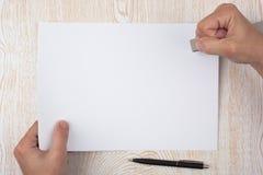 Papierschwergängigkeit Stockfoto