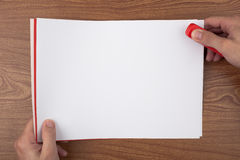 Papierschwergängigkeit Stockbild