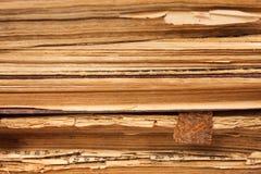 Papierseiten der alten Bücher Lizenzfreies Stockfoto