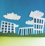 Papierstadt Lizenzfreies Stockfoto