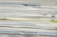Papierstapel lizenzfreie stockbilder