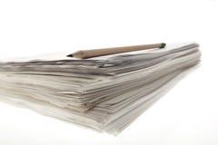 Papierstapel. Stockbild