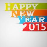 Papierstreifen des guten Rutsch ins Neue Jahr-2015 Stockbilder