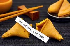 Papierstreifen mit Phrase, die Sie viel heute vom Vermögen lernen stockfotos