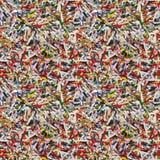 Papierstreifen-nahtloser Hintergrund Lizenzfreie Stockfotografie