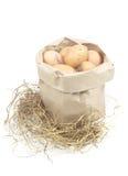 Papiertüte mit Eiern Stockbilder