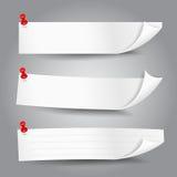 Papiertagfahnen-Vektorillustration 001 Lizenzfreie Stockfotos