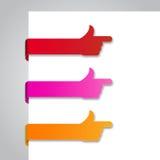 Papiertags - 2 Lizenzfreies Stockfoto