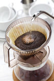 Papiertropfenfängerkaffee lizenzfreie stockfotografie