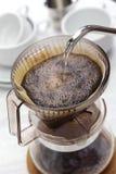 Papiertropfenfängerkaffee lizenzfreies stockbild