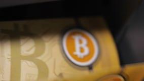 Papieru Bitcoin gotówka Licząca z Potężną maszyną zbiory