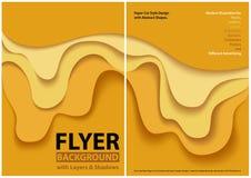 Papieru cięcia stylu projekt z Żółtymi warstwami royalty ilustracja