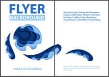 Papieru cięcia stylu projekt z Błękitnymi warstwami royalty ilustracja