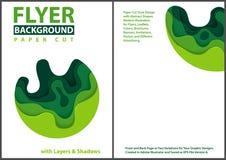 Papieru cięcia stylu projekt z Zielonymi warstwami ilustracja wektor