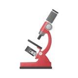 Papieru cięcie czerwony mikroskop jest nauki wyposażeniem w laboratorium f ilustracja wektor
