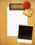 Papieru i fotografii układ obrazy royalty free