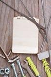 Papieru i metalwork narzędzia Fotografia Royalty Free