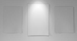 3 papieru z na pokładzie puszka światła Fotografia Stock