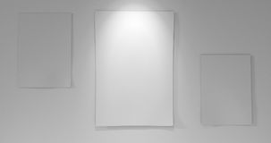 3 papieru z na pokładzie puszka światła Zdjęcia Stock