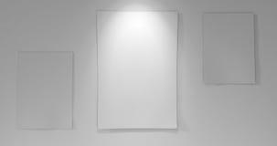 3 papieru z na pokładzie puszka światła Obraz Royalty Free