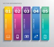 Papiervorsprung infographic Stockfotos