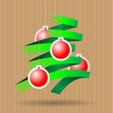 Papierweihnachtsbaum Stockfoto